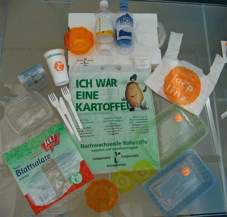 Bioplastik-Produkte